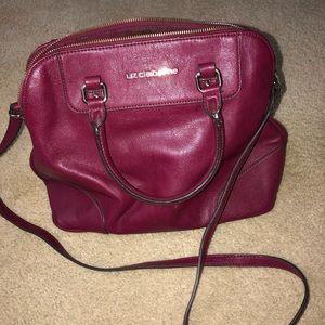 Liz Claiborne Burgundy Leather Handbag